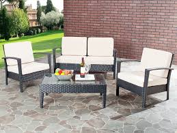 Amazon Safavieh Home Collection Glass Top 4 Piece Patio