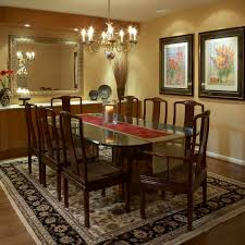 Dining Room Traditional Dining Room Design With Glass Dining Table
