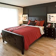 light wood furniture exclusive. Dark Wood Furniture And Walls Make A Striking Contrast With The Red Bedding Set Light Exclusive T
