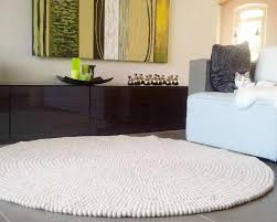 Fantastic White Designer Felted Balls Carpets Online Buy