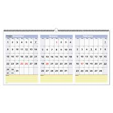 At A Glance Pm15 Quicknotes 3 Month Horizontal Wall Calendar 23 1 2 X 12 Inches