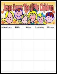 Printable Attendance Charts For Bible Class Sunday School Attendance Chart Google Search Sunday
