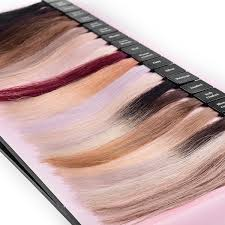 China Human Hair Color Chart With Detachable Hair Swatch