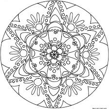 Small Picture Mandala Coloring Pages Online High Resolution Coloring Mandala