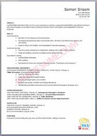 Flight Attendant Resume Sample With No Experience Free Resume