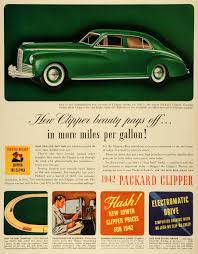 packard period paper 1953 Packard Clipper Deluxe Wiring Diagram 1941 ad vintage 42 packard clipper touring sedan wwii economical lf5 1952 Packard Clipper Deluxe