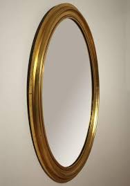 gold gilt wooden oval wall mirror in excellent condition for in san go ca