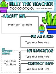Teachers Newsletter Templates Cactus Meet The Teacher Newsletter Template Editable