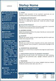 Startup One Pager Template Word Dlword