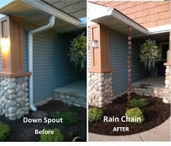 exterior upates rain chains drain tile pop ups in new richmond