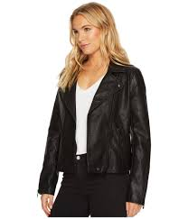 lyst blank nyc black vegan leather jacket in onyx onyx women s coat in black