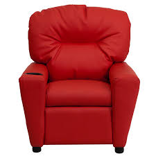 Amazoncom Flash Furniture Contemporary Red Vinyl Kids Recliner Contemporary Red Chair