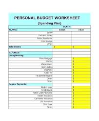 Personal Finance Budget Worksheets Monthly Financial Budget Template Personal Finance Free