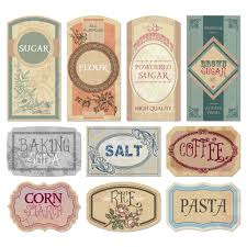 Decorative Labels For Jars FREE Printable vintage labels for jars and canisters to organize 2
