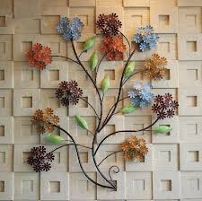 modern home decoration creative metal wall art hand made colorful deco flowers as decor and gift contemporary metal sculptures wall art
