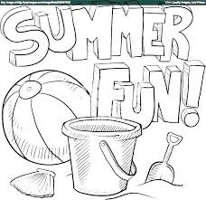 Summer Coloring Pages For Kindergarten Trustbanksurinamecom
