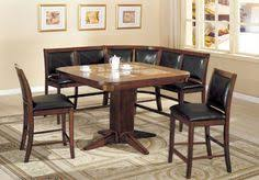 cm3568pt 6pc 6 pc living stone ii finish wood marble inserts table top dining table set