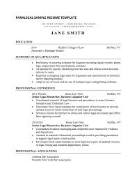 Paralegal Resume Beauteous Paralegal Resume Sample Internships