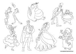 Small Picture Princess and The Frog Coloring Pages