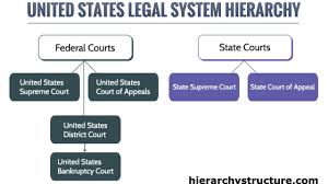United States Court System Flow Chart Hierarchy Of United States Legal System Hierarchy Structure