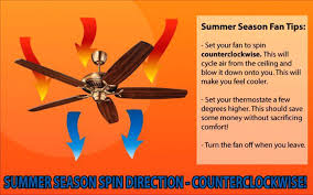 direction ceiling fan should turn in summer what direction should a ceiling fan turn in the