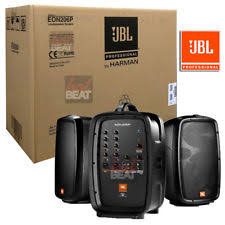 jbl powered speakers. jbl eon 206p portable pa system with powered speakers set + mixer 632709973219 jbl