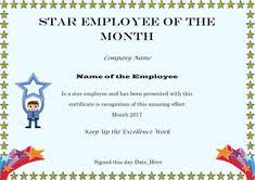 Printable Employee Of The Month Certificates 15 Best Employee Of The Month Certificates Images Funny