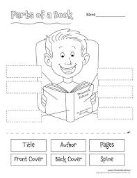 482391a36891be77e8970f9536e916c2 parts of a book worksheet for kids language arts printables on dbt worksheets
