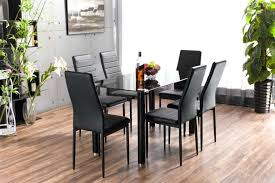 inspiring glass dining table with chairs lunar rectangle glass dining table chairs set and new black