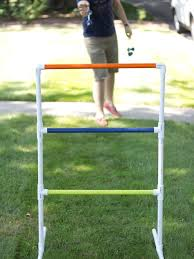 stand 15 feet back from your ladder and toss your bolas onto the rungs first person to 21 points wins