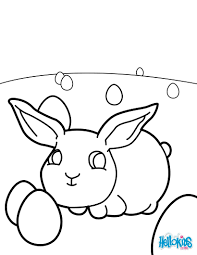 Baby easter bunny coloring pages - Hellokids.com