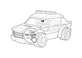 Police Car Coloring Page Lego Printable