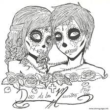 Small Picture 15 best SUGAR SKULL COLORING PAGES images on Pinterest Coloring