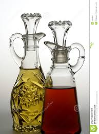 oil and vinegar bottles royalty free stock photo  image