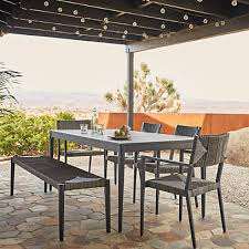 railay outdoor patio dining table arm