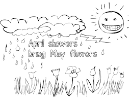Make them happy with these printable coloring pages and let them show how artful and creative they. Home Ideas For April Showers Bring May Flowers Coloring Pages Spring Coloring Pages Coloring Pages April Showers