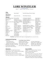 Modern Dance Resume Sample Audition Resumes Melo Yogawithjo Co Simple Resume 6670 Cd