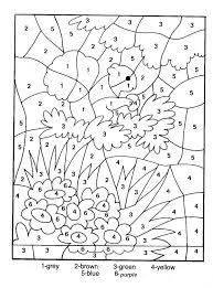 Small Picture Count By Number Coloring Pages Color By Number Coloring Pages For