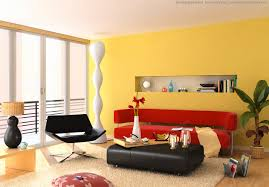Interior Colorful Home Decor Ideas For Living Room With Red Wall