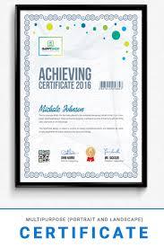 Corporate Certificate Template Multipurpose Corporate Modern Certificate Template 74709