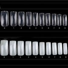 Details About 100pcs Acrylic Fake Fingernails Artificial False Nail Art Full Tips Smooth New M