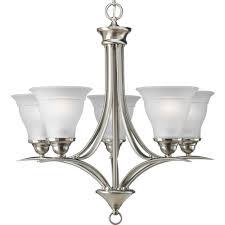 preferred chandelier lights inside progress lighting trinity collection 5 light brushed nickel gallery 8 of