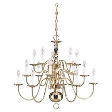 traditional 15 light polished brass multi tier chandelier