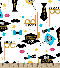 congratulations to graduate 2017 congratulations graduate print fabric joann