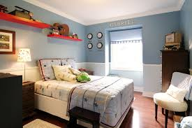 Beautiful crown stencil in Contemporary Toronto with Boys Room Paint Ideas  next to Teenage Bedroom Ideas For Boys alongside Blue Bedroom and Chair Rail
