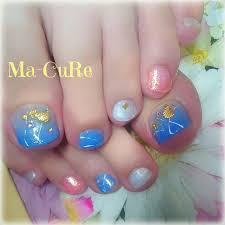 Ma Cureマーキュアさんのネイルデザイン 夏ネイルフットネイル海