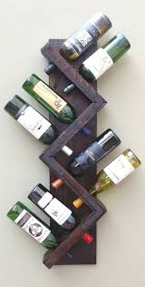 wine racks hanging wine rack wine rack wall mount z rustic wood wine bottle display