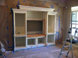 Built In Drywall Shelves Adding A Custom Entertainment Center To A Standard Drywall Built