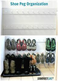 hall closet organization ideas and hall closet storage ideas organized shoe storage after peg
