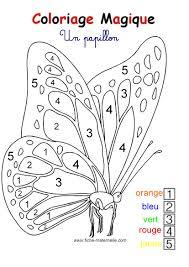 Coloriage Magique Pour Les Plus Petits Un Papillon Colouring